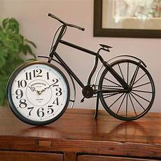 clocks home decor antique metal free standing vintage bicycle clock home