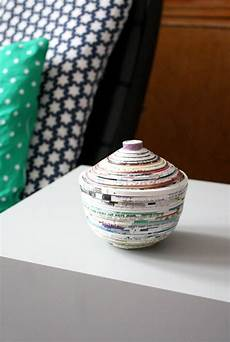 bastelideen mit papier papierschale selbermachen papier