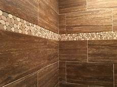 like the tile border and the floor powder stunning shower accent using sliced java and