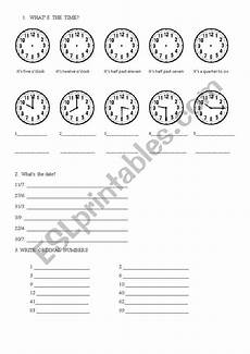time revision worksheets 3176 revision time dates ordinals esl worksheet by anamia