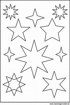 Malvorlage Sterne Klein Sternenvorlage Zum Ausdrucken Und Ausschneiden