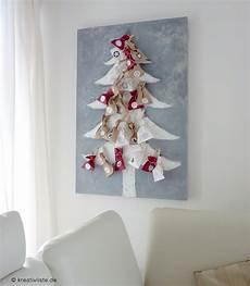 Diy Adventskalender Ein Weihnachtsbaum Auf Leinwand