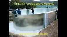 piscine acier galvanisé enterrée montage piscine enterr 233 e pool gre