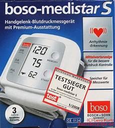 stiftung warentest blutdruckmessgeräte erfahrungsbericht zum blutdruckmessger 228 t boso medistar s