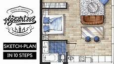 awesome sketch plan for 3 sketch plan in 10 easy steps interior design drawing with