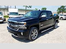 2017 Chevy Silverado 1500 High Country   Jet Black   Full