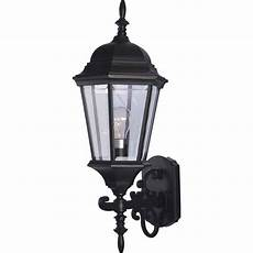 volume lighting 1 light black outdoor wall sconce v8211 5
