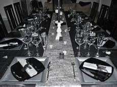 Decoration Table De Noel Noir Et Blanc