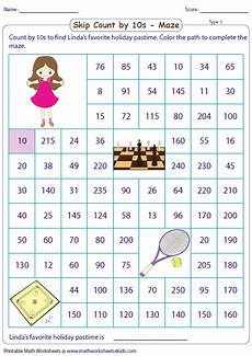 skip counting mazes worksheets 11955 skip counting by 10s worksheets