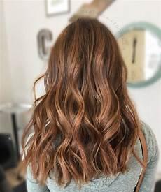 Balayage Caramel Et M 232 Ches Caramel Sur Cheveux Bruns Et