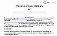 general power of attorney free poa form in pdf format