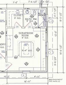 scrapbook room with built in craft storage