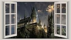 3d window wall sticker harry potter hogwarts 2