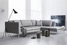 Ecksofa Felix Modernes Elegantes Designer Sofa Stoff Grau