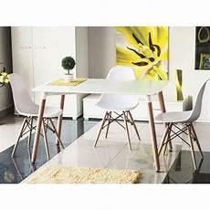 table style scandinave table de cuisine 120 cm nolan scandinave plateau blanc
