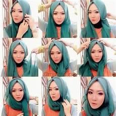 Model Jilbab Untuk Muka Oval Voal Motif