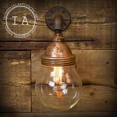 etsy copper wall light vintage industrial benjamin style explosion proof sconce glass dome wall l copper shade on