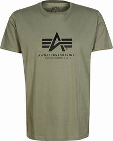 alpha industries basic t shirt olive
