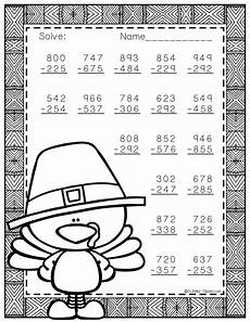 thanksgiving subtraction with regrouping worksheets 10720 3 nbt 2 thanksgiving themed 3 digit subtraction with regrouping thanksgiving math homeschool