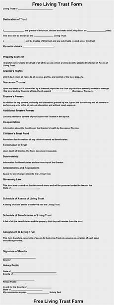 free living trust form download free living trust forms