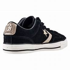 converse player ox mens trainers in black khaki