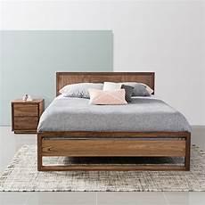 bett skandinavisches design bruno solid walnut king size bed frame 213x192cm icon