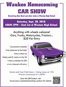 Waukee Homecoming Car Show  High School