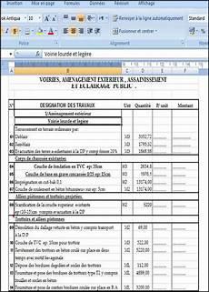 devis pour travaux exemple d un devis quantitatif et estimatif pour