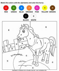 color the by alphabets worksheet turtle diary