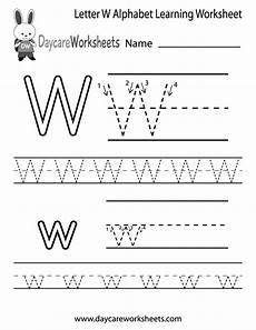 letter w worksheets for pre k 23711 free letter w alphabet learning worksheet for preschool