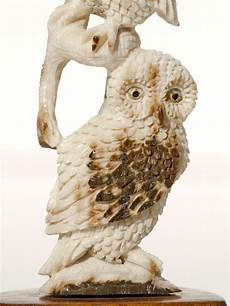 owl stack ivory carving
