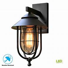 home decorators collection wisteria collection 1 light sand black medium outdoor wall