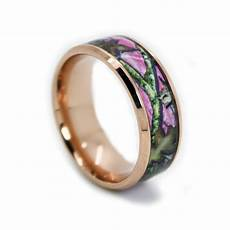 pink camo wedding rings by one camo rose gold ring beveled
