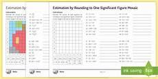 estimation by rounding mosaic worksheet
