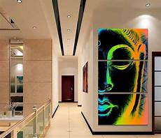paintings for home decor framed 3pcs abstract buddha modern home decor canvas print