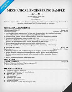mechanical engineering resume sle resumecompanion com
