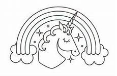 Malvorlage Regenbogen Einhorn Unicorn Outline 19 Outlines Of Magical Unicorns