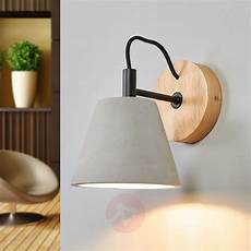 possio wall light w concrete lshade and wood lights co uk