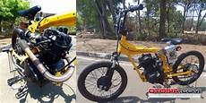 Motor Modif Sepeda Bmx by Motor Cb Disulap Jadi Sepeda Bmx Bermesin Otosia