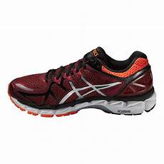 asics mens gel kayano 21 running shoes orange