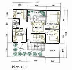 Denah Rumah Minimalis 1 Lantai Ukuran 10x12 Desain Rumah