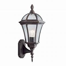 searchlight 1565 rustic brown upright small outdoor wall light from lights 4 living
