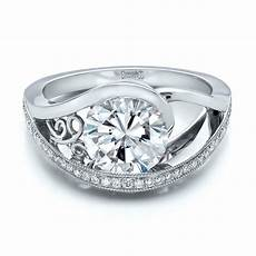 custom diamond engagement ring 100551 seattle bellevue