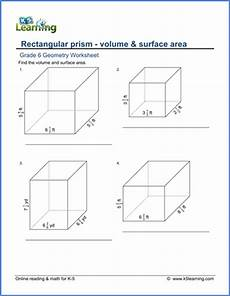 grade 6 math worksheet geometry volume surface area of rectangular prisms with fractions