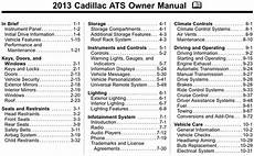 cadillac 2013 ats operators owners user guide manual download man