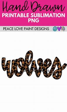 perfectly peaceful designer leopard wolves sublimation design how to draw