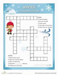 winter crossword worksheets 19981 3rd grade winter worksheets free printables education