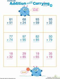 digits vertical addition with regrouping 2 digit addition with regrouping worksheets math and school