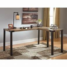 home office corner desk furniture ashley dexifield light brown home office corner desk h209
