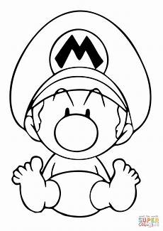 baby mario coloring page free printable coloring pages